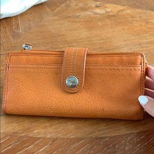 Fossil Wallet in Orange